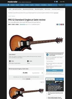 MusicRadar.com PRS S2 Standard Singlecut Satin