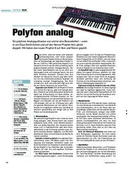 tastenwelt Dave Smith Instruments Prophet 6: Polyfon analog
