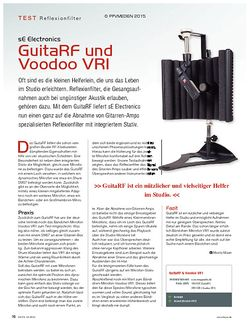 KEYS sE Electronics GuitaRF und Voodoo VRI