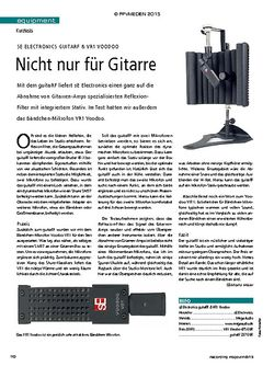Recording Magazin SE ELECTRONICS GUITARF & VR1 VOODOO