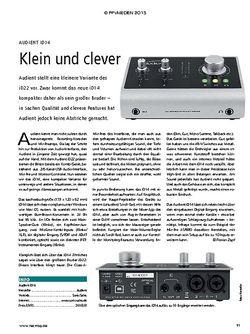 Recording Magazin Audient ID14