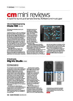 Computer Music IK Multimedia iRig Mic Studio