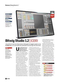 Future Music Bitwig Studio 1.2