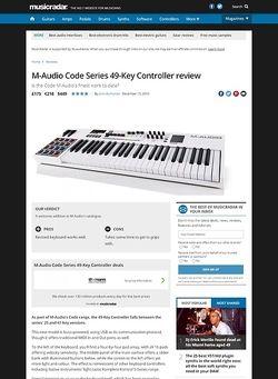 MusicRadar.com M-Audio Code Series 49-Key Controller