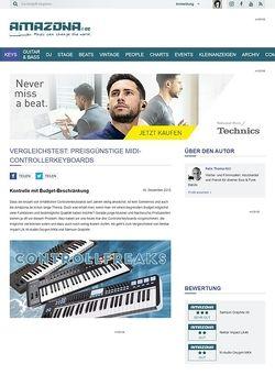 Amazona.de Vergleichstest: Günstige Controllerkeyboards Nektar Impact LX, M-Audio Oxygen MK4, Samson Graphite, USB/MIDI-Controllerkeyboards