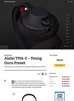 Kopfhoerer.de AIAIAI TMA-2 Modular Young Guru