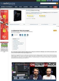 Audiofanzine.com Steinberg Cubase Pro 8.5