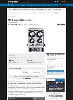 MusicRadar.com DOD Gunslinger