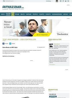 Amazona.de Test: Akai MPD226 - USB Controller