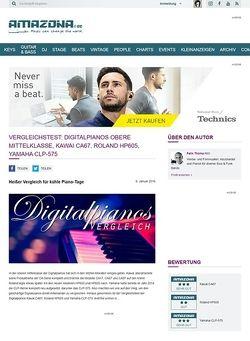 Amazona.de Vergleichstest: Digitalpianos obere Mittelklasse, Kawai CA67, Roland HP605, Yamaha CLP-575