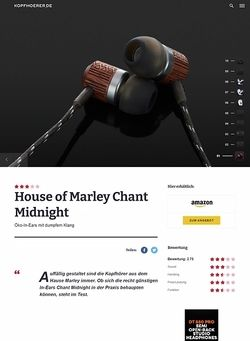 Kopfhoerer.de House of Marley Chant Midnight
