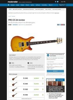 MusicRadar.com PRS CE 24
