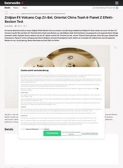 Bonedo.de Zildjian FX Volcano Cup Zil-Bel, Oriental China Trash & Planet Z Effekt-Becken