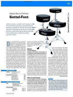 DrumHeads Instrumente & Technik: Test – Mapex Drum-Thrones