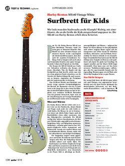 guitar Harley Benton MS-60 Vintage White