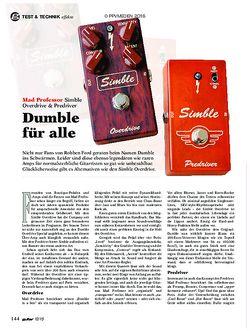 guitar Mad Professor Simble Overdrive & Predriver