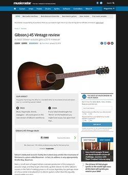 MusicRadar.com Gibson J-45 Vintage