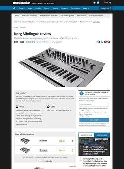MusicRadar.com Korg Minilogue