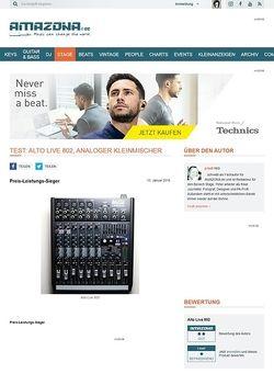 Amazona.de Test: Alto Live 802, analoger Kleinmischer