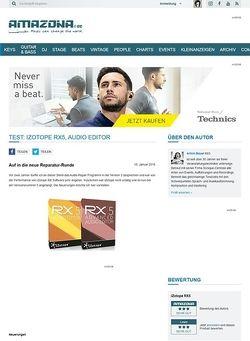 Amazona.de Test: iZotope RX5, Audio Editor