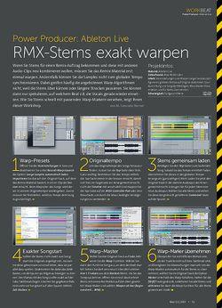 Beat Ableton Live - RMX-Stems exakt warpen