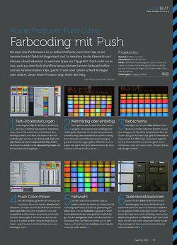 Beat Push-DJing - Farbcoding mit Push