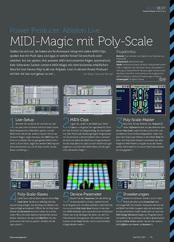 Beat Ableton Live - MIDI-Magic mit Poly-Scale
