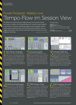 Beat Ableton Live - Tempo-Flow im Session View