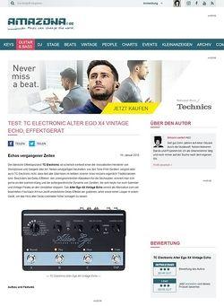 Amazona.de Test: TC Electronic Alter Ego X4 Vintage Echo, Effektgerät