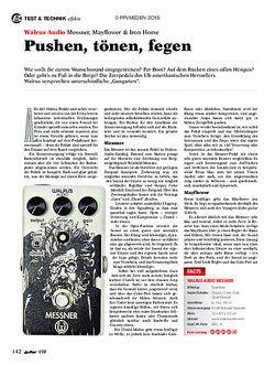 guitar Walrus Audio Messner, Mayflower, Iron Horse