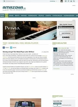 Amazona.de Test. Gemini MDJ-1000, Media-Player
