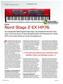 KEYS Clavia Nord Stage 2 EX HP76