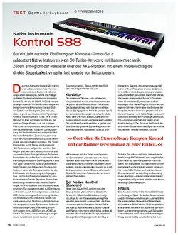 KEYS Native Instruments Kontrol S88