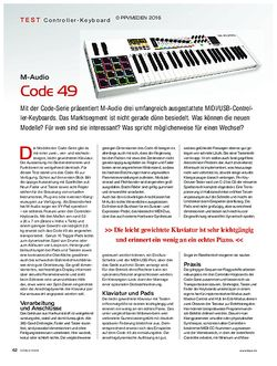 KEYS M-Audio Code 49