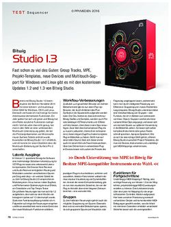 KEYS Bitwig Studio 1.3