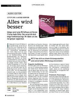 SOUNDCHECK Izotope RX 5
