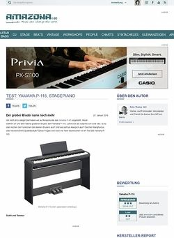 Amazona.de Test: Yamaha P-115, Stagepiano
