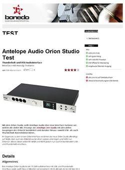Bonedo.de Antelope Audio Orion Studio