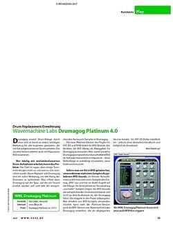 KEYS Kurztest: Wavemachine Labs Drumagog Platinum 4.0