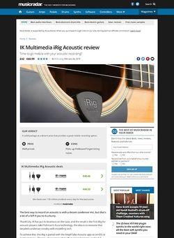 MusicRadar.com IK Multimedia iRig Acoustic