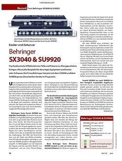 KEYS Test: Behringer SX3040 & SU9920