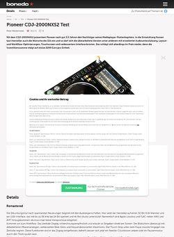 Bonedo.de Pioneer CDJ-2000NXS2