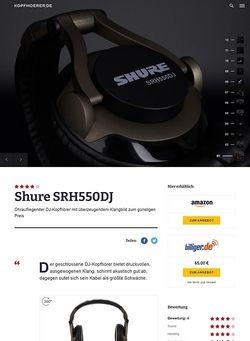 Kopfhoerer.de Shure SRH550 DJ