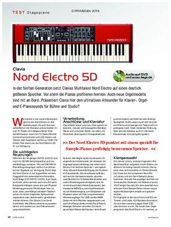 KEYS Clavia Nord Electro 5D