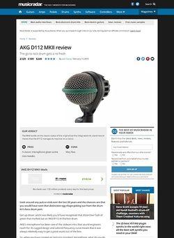 MusicRadar.com AKG D112 MKII