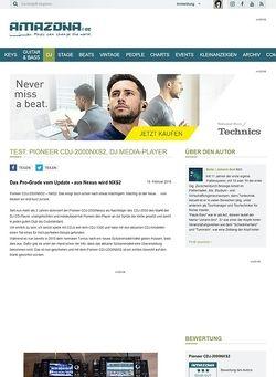 Amazona.de Test: Pioneer CDJ-2000NXS2, DJ Media Player
