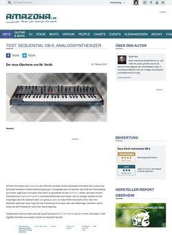 Amazona.de Test: Dave Smith Instruments OB-6, Analogsynthesizer