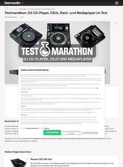 Bonedo.de Testmarathon: DJ CD-Player, Mediaplayer und DJ-Turntables