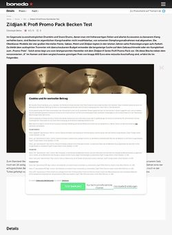 Bonedo.de Zildjian K Profi Promo Pack Becken