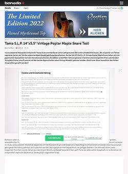 Bonedo.de Tama S.L.P. 14x5,5 Vintage Poplar Maple Snare Test